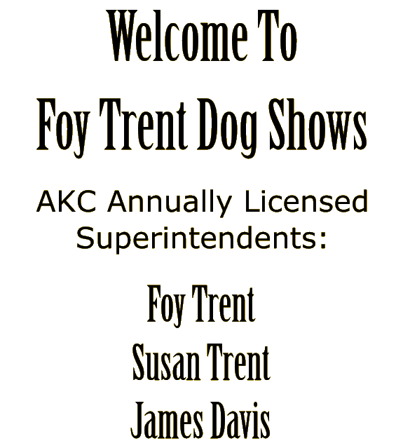 Roy Jones Dog Shows Closed Shows